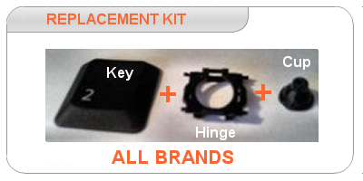 Laptop keys replacement kit